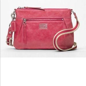 Vintage coach Poppy leather swing back 46422